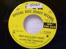 """MIKE CURB CONGREGATION """"FORTY DAYS & FORTY NIGHTS / IT WAS A GOOD TIME"""" 45 PROMO"""