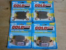 FRONT & REAR (OFF-ROAD) BRAKE PADS (4x Sets) YAMAHA YFM 550 700 GRIZZLY YFM550