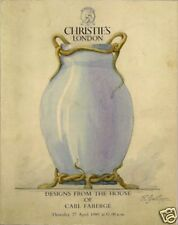 RARE CHRISTIE'S RUSSIAN FABERGE Designs Auction Catalog