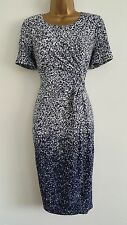 NEW EASTEX 10-22 RRP £99.00 Ombre Printed Blue White Shift Dress Wedding Party