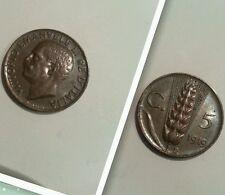 Raro 5 centesimi spiga 1919 vittorio Emanuele III alta qualità