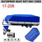 17-20ft Boat Cover Pontoon Outdoor Rain Trailerable Outdoor Waterproof Fish Ski