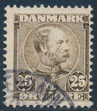Denmark Scott 67 or AFA 49, 25 øre brown Christian IX, F fresh Used
