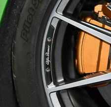 Alfa Romeo Alloy Wheel Badges Aluminium Black x4