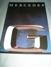 Mercedes G Class range brochure Jun 1991 German text