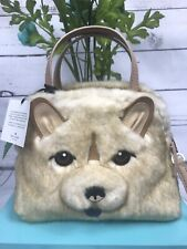 NWT *SPECIALTY* Novelty Kate Spade Dog Chow Chow Lottie Faux Fur Satchel Bag