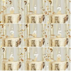Gold Ombre Birthday Candles Numbered Stylish Number 0 - 9 Choose your age Annive