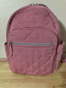 Vera Bradley Small Backpack in Performance Twill Strawberry Ice