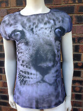 AnD Girls Leopard Print Top Size 10