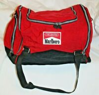 Vintage Marlboro Unlimited Cigarette Gym Duffel Travel Sports Bag Red & Black