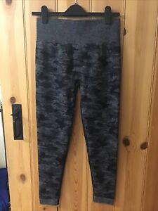 Gymshark Camo Seamless Leggings BLACK Size L