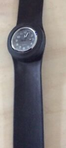 Black Snap Bracelet Watch birthday gift his hers