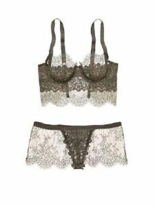 $586.00 Victoria's Secret Designer Collection EMBELLISHED LONGLINE bra 34B & S