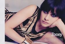 Zooey Deschanel 8pg + cover MARIE CLAIRE magazine feature, clippings