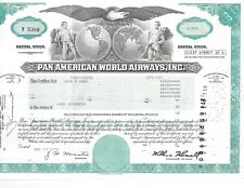 1978 Pan American World Airways Stock Certificate 100 Shares Nice !
