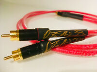 Audiophile Pine Tree Audio Red Prism RCA Interconnects Canare CUSTOM LENGTHS