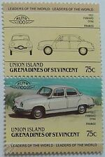 1957 PANHARD DYNA Car Stamps (Leaders of the World / Auto 100)