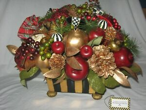 MacKenzie Childs Gala Table Centerpiece Christmas Holiday Retired Decoration