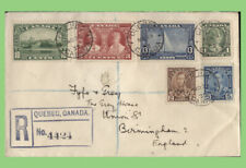 Canada 1935 KGV Silver Jubilee set on registered cover to England