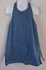 Baby Gap Girls 5 XL Dress Chambray Blue Halter Open Back Summer