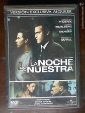DVD LA NOCHE ES NUESTRA - EDICION DE ALQUILER - JOAQUIN PHOENIX - MARK WAHLBERG