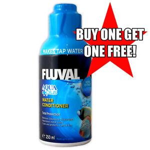 Fluval AquaPlus 250ml BUY ONE GET ONE FREE Water Conditioner Dechlorinator Fish