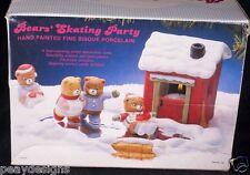Jasco BEAR SKATING PARTY Winter Wonderland Holiday Scene Taiwan SEE VIDEO