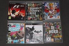 Bundle lotto di PS3 (PAL) giochi compreso gta, Batman e Little Big Planet giochi!