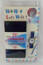 Tic-toc Let's Talk How to Tell Time Video VHS Clown Watch & Coloring Book