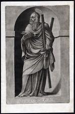 Antique Print-SAINT-ANDREW-APOSTLE-SALTIRE-BOOK-Ehinger-Sandrart-1708