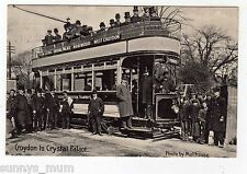 LONDON, CROYDON CORP. TRAM, NO. 13, CROYDON TO CRYSTAL PALACE, CREW/ DIGNATARIES