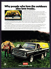 "1978 GMC Pickup Truck with Camper photo ""Loves The Outdoors"" promo print ad"