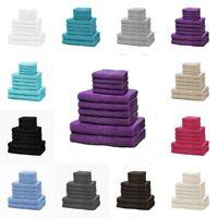 Egyptian Towel Bale Set 100% Cotton Satin 10 PCs Face Hand and Bath Towel Set