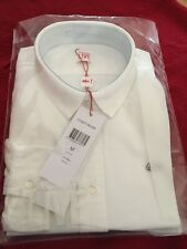 Womens Ladies Lacoste Live White Long Sleeve Cotton Shirt Blouse Medium M NEW