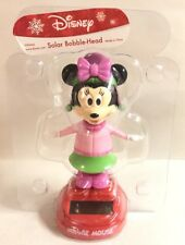 NEW Disney Minnie Mouse 2017 Christmas Holiday Solar Bobble Head Toy Figure Gift