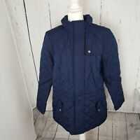 New Charter Club Quilted Zip Front Women's Jacket Coat Plus Size 1X Blue NWT