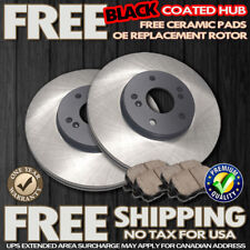 O0301 FRONT BLACK HUB OE REPLACE Brake Rotors & Ceramic Pads *CHECK CAR DETAIL*