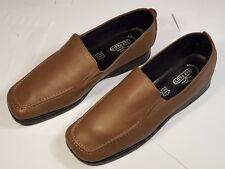 FLY FLOT Comfort Flex Mens Soft Leather Brown Slip On Shoes UK Size 8 559180dca1a