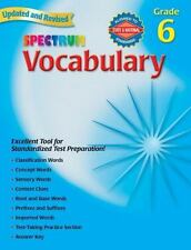 Spectrum Vocabulary, Grade 6, School Specialty Publishing, Good Book