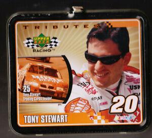TONY STEWART TRIBUTE FACTORY SEALED LUNCHBOX W 25 CARDS INSIDE NASCAR UPPER DECK