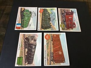 1955 TOPPS RAILS AND SAILS LOT X 5 #2