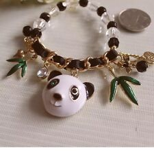 NWT Betsey Johnson Panda 🐼 Bracelet Crystals Adorable