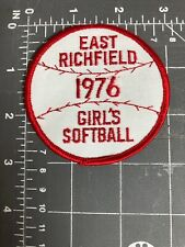 Vintage East Richfield 1976 Girl's Softball Patch Baseball League Minnesota MN