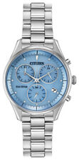 Citizen Eco-Drive Chandler Women's Chronograph Blue Dial 32mm Watch FB1440-57L