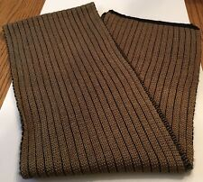 Men's Isotoner Gold/Black Ribbed Knit Scarf