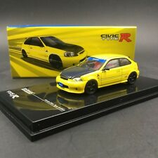 Tarmac Works 1/64 Honda Civic Type R EK9 By SPOON Yellow T64-010-YL