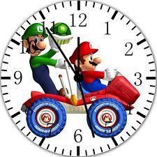 Super Mario Luigi Frameless Borderless Wall Clock Nice For Gifts or Decor X33