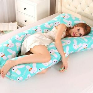 Sleeping Support Pillow For Pregnant Women Side Sleepers Body PW12 100% Cotton