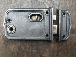 large Gothic church style entrance door cast iron rim lock box lock & keep 2RBL