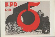 KPD SLATE *  RARE EAST GERMAN art POSTER GDR COMMUNIST